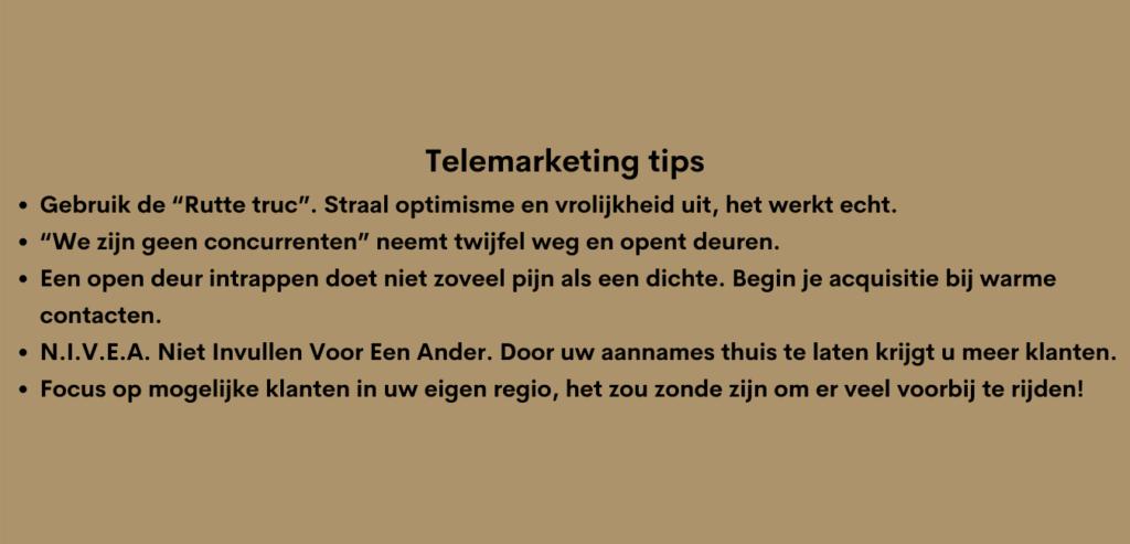 telemarketing tips