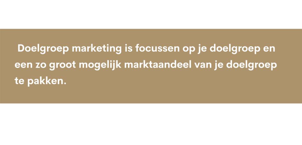 marketing doelgroep